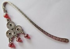 Beaded Metal Bookmark - great gift idea - 5 colours