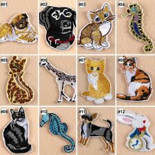 Embroidered Iron On Patches Animals Transfer Fabric Bag Clothes Applique Trim-A