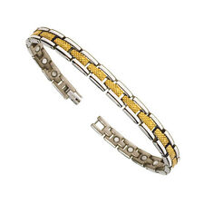 Accents Kingdom Two Tone Premium Titanium Magnetic Golf Bracelet T32