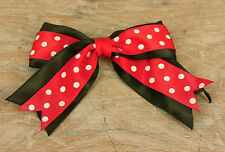 """1.2.4.8.10 4"""" Wide Large Mini Mouse Style Double Satin Ribbon Bows"""