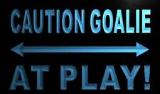 """16""""x12"""" m570-b Caution Goalie At Play Neon Sign"""