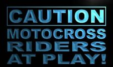 """16""""x12"""" m600-b Caution Motocross Rider at Play Neon Sign"""