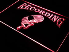 "16""x12"" i206-r Recording On The Air Radio Studio Neon Sign"