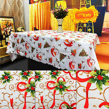 Vintage Pattern Printing Tablecloth Christmas Dinning Table Cover Ornament Decor