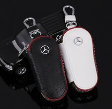 High quality leather Car Key Holder Key chain Ring Case Bag For Mercedes Benz