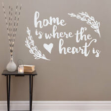 Wallums Wall Decor Where the Heart Is Quote Wall Decal