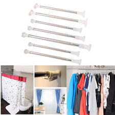 Spring Loaded Strong Metal Extendable Pole Telescopic Curtain Clothes Rail Rods