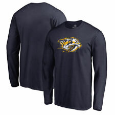 Nashville Predators Fanatics Branded Mens Splatter Logo   T-Shirt - Navy