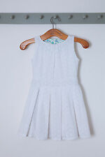 SUMMER SALE!  Hey Joe Clothing -White Broderie Anglaise Pleated Summer Dress