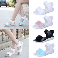 Fashion Womens Flat Ankle Strap Sandals Summer Casual Platform Beach Shoes Size