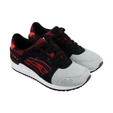Asics Gel Lyte III Mens Red Black Suede & Textile Athletic Lace Up Running Shoes