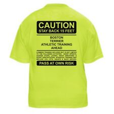 BOSTON TERRIER FUNNY DOG LOVER T-SHIRT - CAUTION - Sizes Small through 5XL