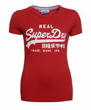 New Womens Superdry Factory Second Vintage Entry T-shirt Red