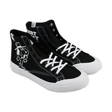 HUF Classic Hi Peanuts Mens Black Textile High Top Lace Up Sneakers Shoes