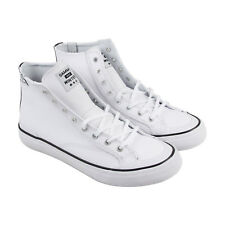 HUF Classic Hi Mens White Leather & Synthetic High Top Sneakers Shoes