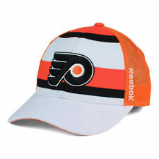 Philadelphia Flyers Reebok NHL Ice Basket Snapback Cap Hat Trucker Stripes Mesh