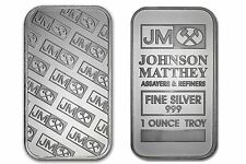 1 TROY OUNCE JOHNSON MATTHEY .999 FINE SILVER BARS 1 oz. Sealed in Plastic