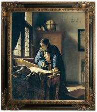 Vermeer The Geographer Framed Canvas Print Repro 20x24