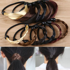 Fashion Braid / Straight Wig Elastic Hair Band Headband Rope Scrunchie Black