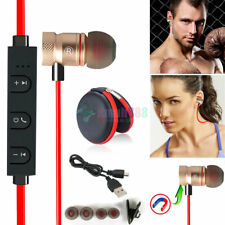 Red -KM56 Magnetic Bluetooth Handsfree Headset Earphone For Cell Phone Oppo /HTC