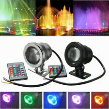 10W RGB Waterproof Underwater LED Spot Light Flood Wash Lamp DC12V IP68