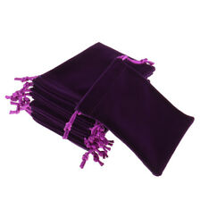 10Pcs Velvet Flannel Jewellery Drawstring Wedding Party Favour Pouches Gift Bags