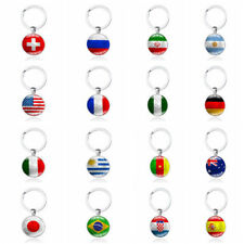 Football World Cup National Flag Exclusive Key Chain Ring For FIFA Soccer Fan US