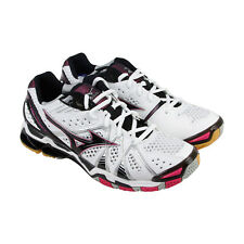 Mizuno Wave Tornado 9 Womens White Mesh Athletic Lace Up Running Shoes
