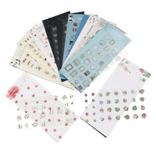 2 Sheet New Colorful Creative Various Designs Decorative  PVC Stationery Sticker