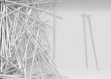 """Sterling Silver 1""""x22 Gauge Domed Shape Head Pins, Choice of Lot Size-Price"""
