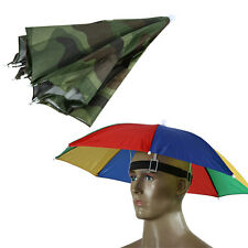 Outdoor Foldable Sun Umbrella Hat Golf Fishing Camping Headwear Cap Head Hat Hot