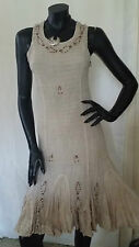 1940's 1950's Vintage Style Pencil Swing Embroidery Sequin Summer Evening Dress