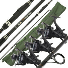 2 / 3 NGT Dynamic 12ft 2pc Carp Fishing Rods & 10bb 60 Reels Set & 3+3 Holdall