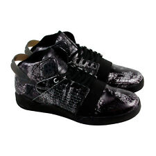 Supra Skytop Iii Mens Black Leather High Top Lace Up Trainers Shoes