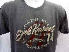 EVEL KNIEVEL ROCKET CYCLE JUMP 74 t-SHIRT (LARGE) SNAKE RIVER CANYON - NEW!