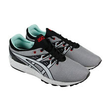 Asics Gel Kayano Trainer Evo Mens White Gray Textile Athletic Running Shoes