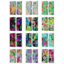 OFFICIAL HAROULITA TROPICAL LEATHER BOOK WALLET CASE COVER FOR SAMSUNG PHONES 3