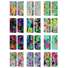 OFFICIAL HAROULITA TROPICAL LEATHER BOOK WALLET CASE COVER FOR SONY PHONES 2