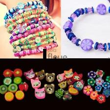 100 PCS Clay Beads DIY Slices Mixed Color Fimo Polymer Clay ILOE