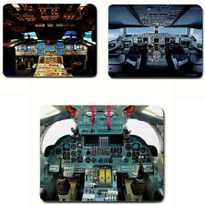 Airplane cockpit Flight Deck Plane controls aircraft Pilot mousepad Mouse Pad