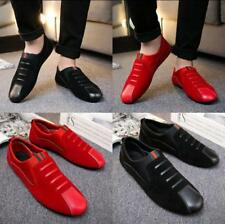 Leather Slip On Loafer Mens Driving Moccasin Casual Party Dress Shoes Slippers &