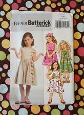 Butterick 4968 Fast & Easy Girls Dress and Scarf Size 2-8 New Uncut Complete