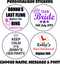 Personalised Hen Do Party, Weekend Stickers Labels
