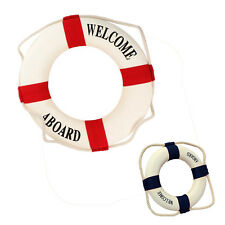 Welcome Aboard Foam Nautical Life Lifebuoy Ring Boat Wall Hanging Home Deco BG