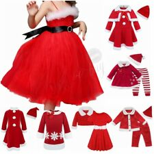 Christmas Santa Claus Costume Toddler Baby Girls Boys Romper Outfits Tutu Dress