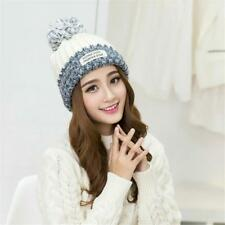 Hip Hop Casual Pom Poms Knitted Wool Beanie Skullies Hats For Women Caps Fashion