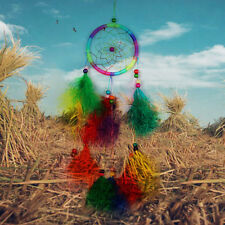 Wall Hanging 55cm Handmade Indian Dream Catcher Net with Feathers Wind Chimes