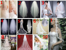 10 Style New white/ivory Tulle Elbow/Cathedral Bridal Accessories Wedding Veil