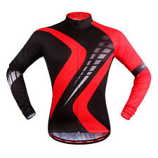 Men Cycling Quick Dry Jersey Long Sleeve Top Bike Bicycle Shirt Clothing
