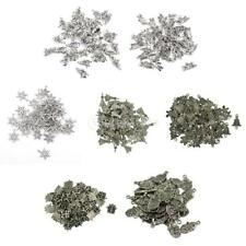 50pcs/Lot Tibetan Silver Xmas Loose Beads Charms Pendant DIY Jewelry Findings